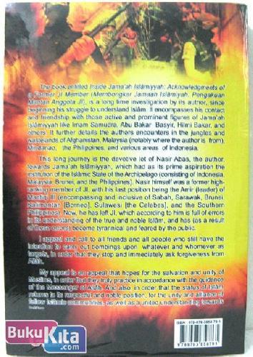 Cover Belakang Buku Inside Jamaah Islamiyah