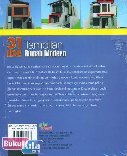 Cover Belakang Buku 31 Tampilan Rumah Modern