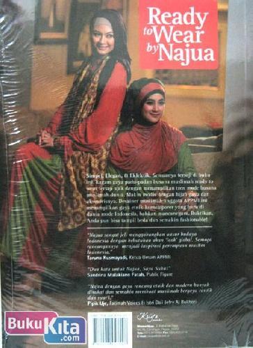 Cover Belakang Buku Ready to Wear by Najua