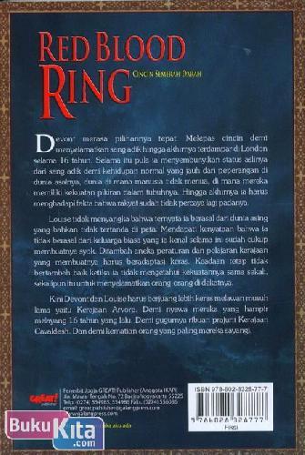 Cover Belakang Buku Red Blood Ring - Cincin Semerah Darah