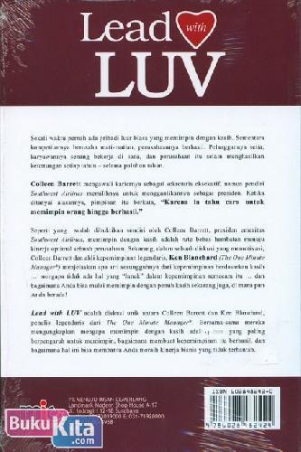 Cover Belakang Buku Lead with LUV : Cara Unik untuk Mencapai Kesuksesan Sejati