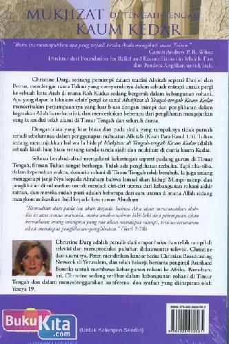 Cover Belakang Buku Mukjizat Di Tengah-Tengah Kaum Kedar ( retur