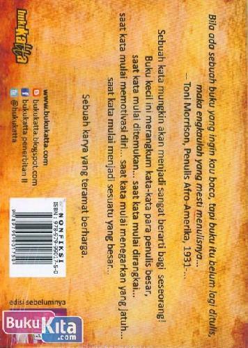 Cover Belakang Buku Kristal Kata : Kumpulan Kata-Kata Penggugah Hati untuk Menulis