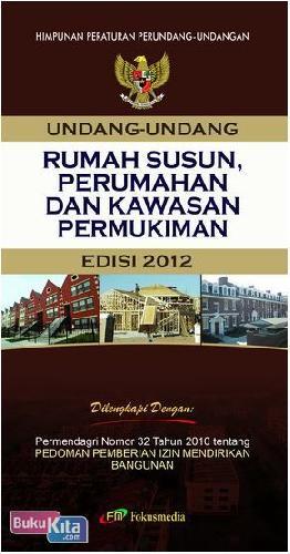 Cover Buku Rumah Susun, Perumahan dan Kawasan Permukiman (Edisi 2012)