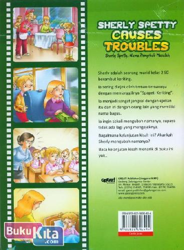 Cover Belakang Buku Sherly Spetty Causes Troubles - Sherly Spetty, Nama Penyebab Masalah