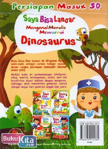 Cover Belakang Buku Saya Bisa Lancar Mengenal Menulis Mewarnai Dinosaurus