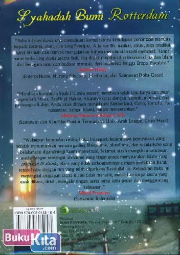 Cover Belakang Buku Syahadah Bumi Rotterdam
