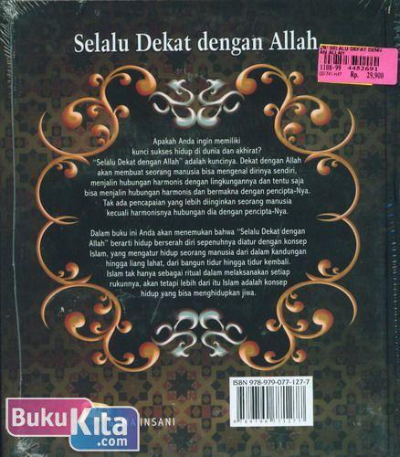 Cover Belakang Buku Selalu Dekat dengan Allah