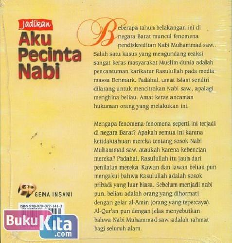 Cover Belakang Buku Jadikan Aku Pecinta Nabi