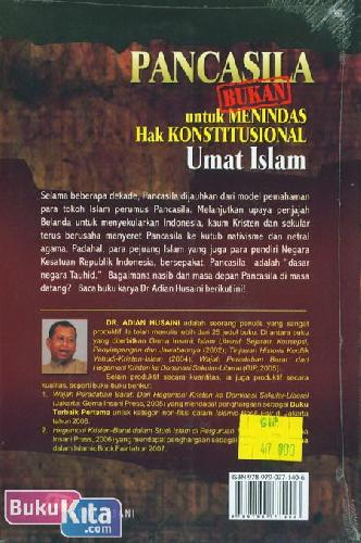 Cover Belakang Buku Pancasila [BUKAN] untuk Menindas Hak Konstitusional Umat Islam
