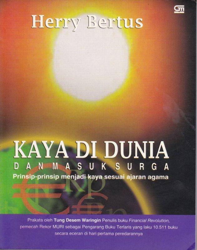 Cover Buku Kaya di Dunia dan Masuk Surga