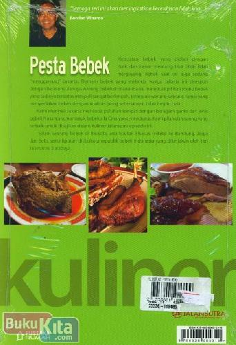 Cover Belakang Buku Kuliner Pesta Bebek (Disc 50%)