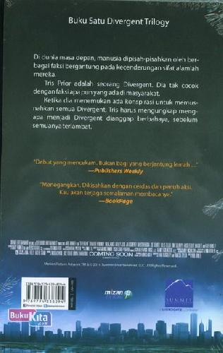 Cover Belakang Buku Divergent Movie Tie-In