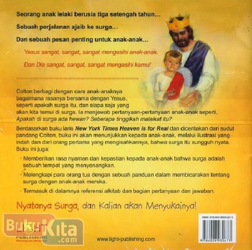 Cover Belakang Buku Heaven is For Real for Kids - Nyatanya Surga Versi Anak-anak (full color)