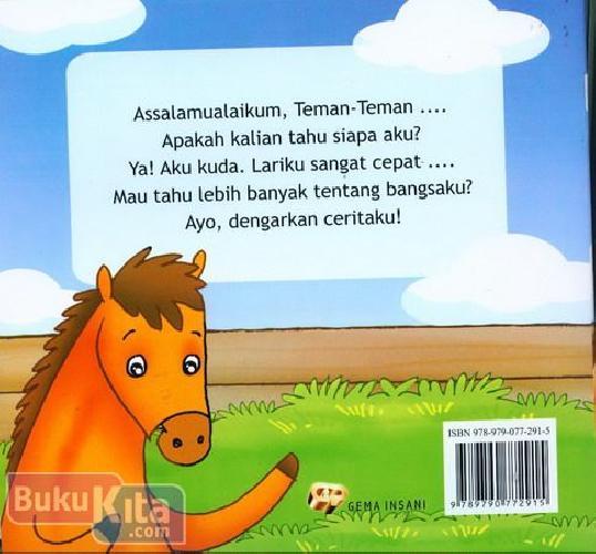 Cover Belakang Buku Seri Mengenal Hewan : Cerita Si Kuda