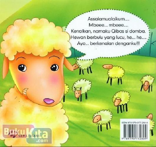 Cover Belakang Buku Seri Mengenal Hewan : Cerita Si Domba