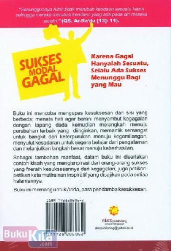 Cover Belakang Buku Sukses Modal Gagal
