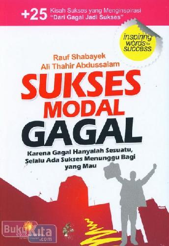 Cover Buku Sukses Modal Gagal