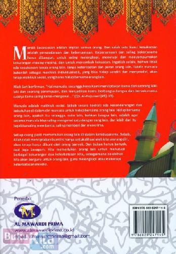 Cover Belakang Buku Persaudaraan. Kebersamaan dan kekuatan Moral. Kunci Meraih Sukses