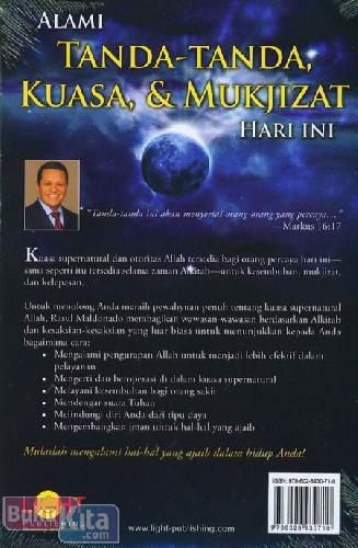 Cover Belakang Buku Bagaimana Berjalan di Dalam Kuasa Supernatural Tuhan