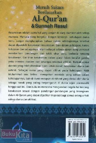 Cover Belakang Buku Meraih Sukses Berdasarkan Al-Quran & Sunnah Rasul