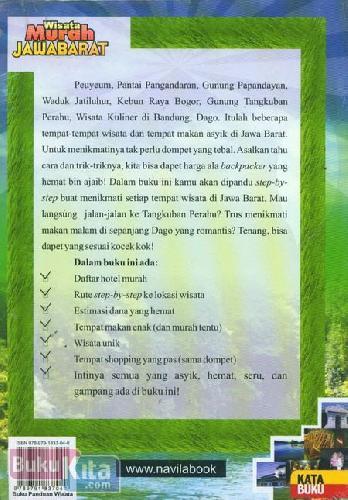 Cover Belakang Buku Wisata Murah Jawa Barat