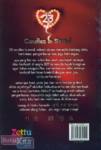 Cover Belakang Buku 23 Candles In Seoul