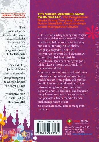 Cover Belakang Buku Anakku Sayang Rajin Shalat