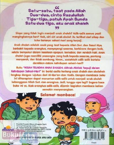 Cover Belakang Buku Kisah Teladan Anak Shaleh