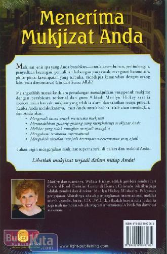 Cover Belakang Buku Jalan Setapak Anda Menuju Mukjizat