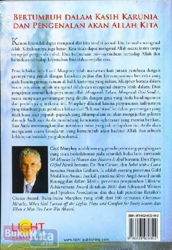 Cover Belakang Buku Mengenali Tuhan Mengenali Diri Sendiri (Sebuah Ajakan untuk Penemuan dari Hari ke Hari)