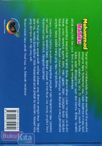 Cover Belakang Buku Muhammad Nabiku Jilid 1