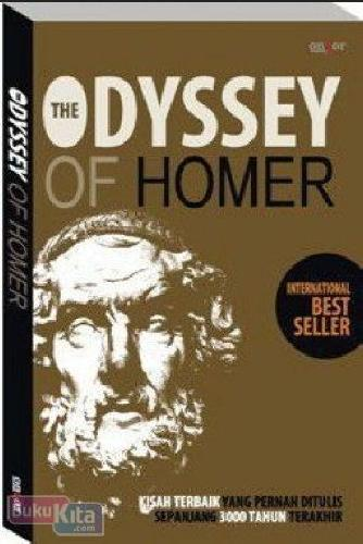 Cover Depan Buku The Odyssey of Homer