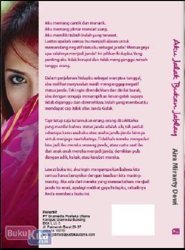 Cover Belakang Buku Aku Jalak Bukan Jablay