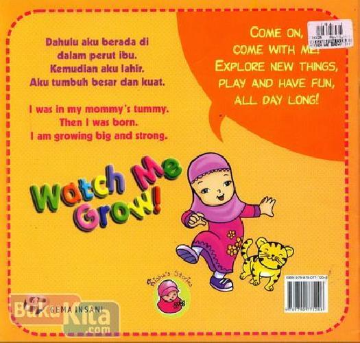 Cover Belakang Buku Watch Me Grow - Lihat, Aku Tumbuh Besar