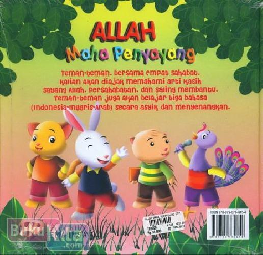 Cover Belakang Buku Allah Maha Penyayang (Seri Tiga Bahasa)