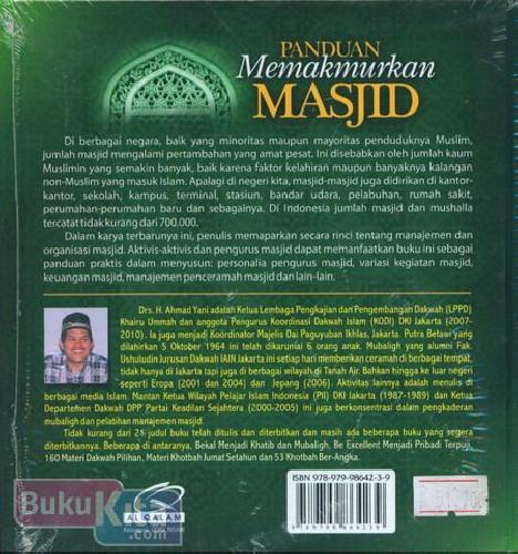 Cover Belakang Buku Panduan Memakmurkan Masjid