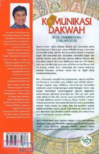 Cover Belakang Buku Komunikasi Dakwah (Teori. Pendekatan dan Aplikasi)