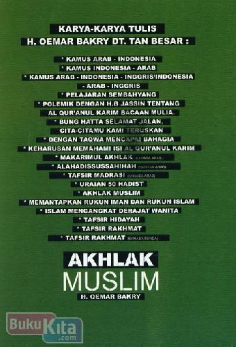 Cover Belakang Buku Akhlak Muslim