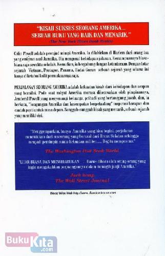 Cover Belakang Buku Colin Powell - Perjalanan Seorang Amerika