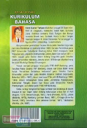 Cover Belakang Buku Dasar-Dasar Kurikulum Bahasa (Edisi Revisi)