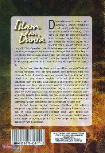 Cover Belakang Buku Islam dan Dunia