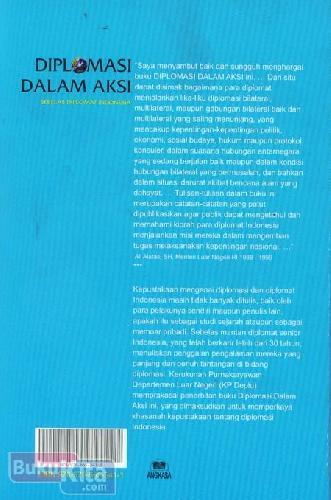 Cover Belakang Buku Diplomasi Dalam Aksi : Sebelas Diplomat Indonesia