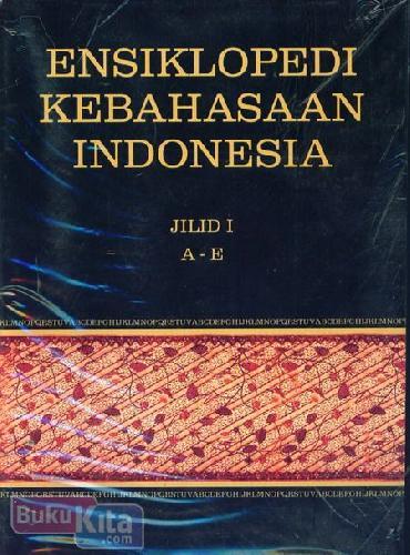 Cover Buku Ensiklopedi Kebahasaan Indonesia Jilid I-IV (SC)