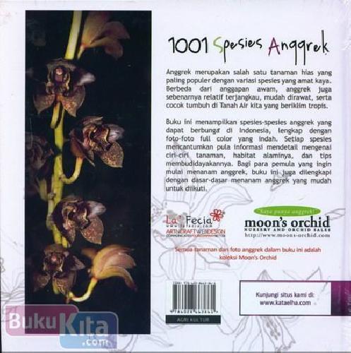 Cover Belakang Buku 1001 Spesies Anggrek Yang Tumbuh dan Berbunga di Indonesia