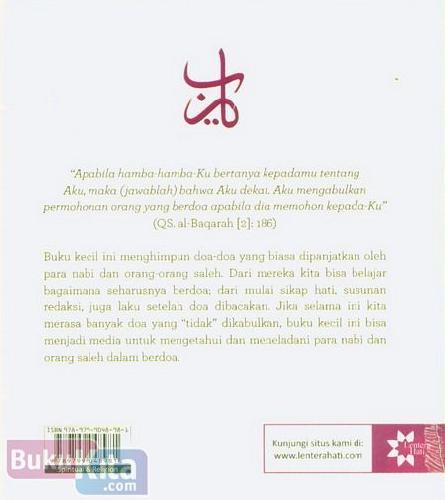 Cover Belakang Buku Doa Harian Yang Dianjurkan Para Nabi Dan Orang Saleh
