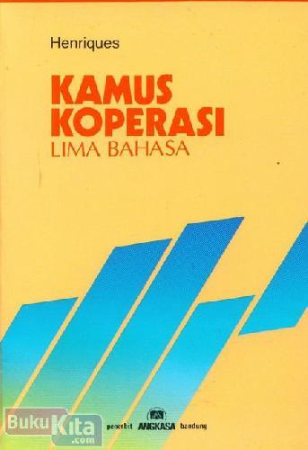 Cover Buku Kamus Koperasi Lima Bahasa
