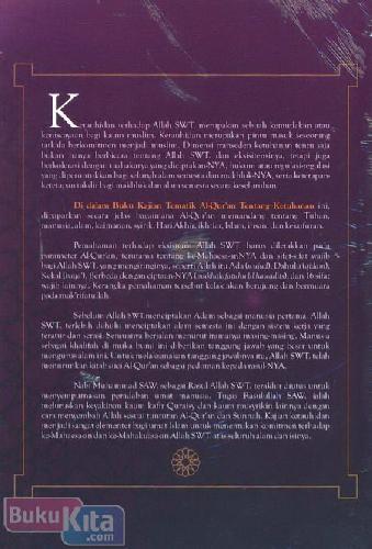 Cover Belakang Buku kajian Tematik Al-Quran Tentang Ketuhanan
