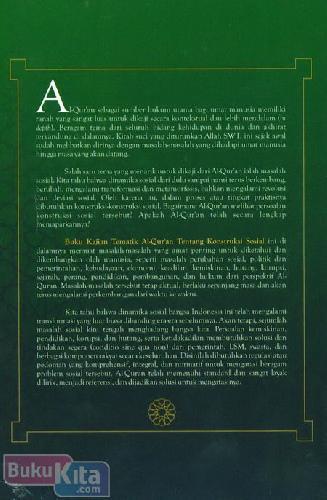 Cover Belakang Buku kajian Tematik Al-Quran Tentang Konstruksi Sosial