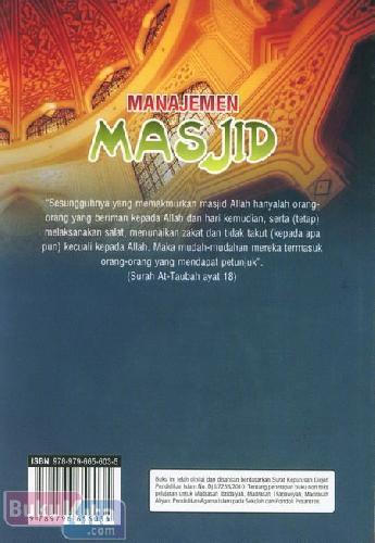 Cover Belakang Buku Manajemen Masjid